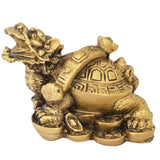 Divya Mantra Feng Shui Dragon Headed Tortoise on Wealth Bed - Divya Mantra