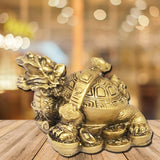 Divya Mantra Feng Shui Dragon Headed Tortoise on Wealth Bed