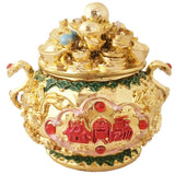 Diya Mantra Feng Shui Golden Colourful Wealth Bowl - Divya Mantra