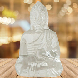 Divya Mantra Meditating Gautam Buddha Murti Sculpture Statue Puja/Car Dashboard Idol for Peace and Serenity