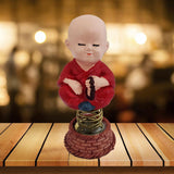 Divya Mantra Chanting Dashboard Monk Toy Doll Showpiece, Collection Figurines, Gifts for Kids, Car Decoration - Divya Mantra