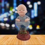 Divya Mantra Peaceful Dashboard Monk Toy Doll Showpiece, Collection Figurines, Gifts for Kids, Car Decoration - Divya Mantra