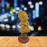 Divya Mantra Dashboard Resting Gautam Buddha Showpiece, Collection Figurines, Car Decoration - Divya Mantra