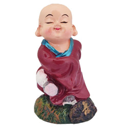 Divya Mantra Happy Tibetan Monk Baby Lama Dashboard Toy Playing Doll Showpiece, Collection Figurines, Gifts for Kids, Car Decoration - Divya Mantra