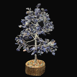 Divya Mantra Feng Shui Natural Amethyst Chakra Healing Gem Stone Bonsai Fortune Vastu Plant Sculpture Tree; Good Luck, Wealth, Success & Prosperity; Home Office Table Decor Gift Item; 300 Crystals