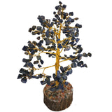 Divya Mantra Feng Shui Natural Amethyst Chakra Healing Gem Stone Bonsai Fortune Vastu Plant Sculpture Tree; Good Luck, Wealth, Success & Prosperity; Home Office Table Decor Gift Item; 300 Crystals - Divya Mantra