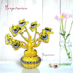 Divya Mantra Decorative Evil Eye Tree Amulet for Good Luck Charm Protection Feng Shui Fortune Showpiece - Divya Mantra