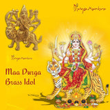 Divya Mantra Sri Hindu Goddess Durga Maa Idol Sculpture Statue Murti- Puja/Pooja Room, Meditation, Prayer, Office, Temple, Home Decor Gift Collection Item/Product- Wealth, Money, Good Luck, Prosperity