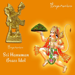 Divya Mantra Sri Hindu God Hanuman Idol Sculpture Statue Murti - Puja/ Pooja Room, Meditation, Prayer, Office, Business, Temple, Home Decor Gift Collection Item/Product-Money, Good Luck, Prosperity