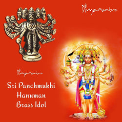 Divya Mantra Sri Hindu God Panchmukhi (Five Faced) Hanuman Idol Sculpture Statue Murti - Puja/Pooja Room, Meditation, Prayer, Office, Business, Temple, Home Decor Lucky Gift Collection Item/Product