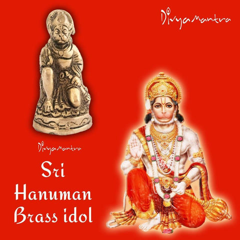 Divya Mantra Sri Hindu God Hanuman Idol Sculpture Statue Murti - Puja/ Pooja Room, Meditation, Prayer, Office, Business, Temple, Home Decor Gift Collection Item/Product-Money, Good Luck, Prosperity - Divya Mantra