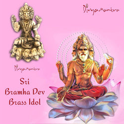 Divya Mantra Sri Hindu God Shree Bramha Idol Sculpture Statue Murti -Puja/Pooja Room, Meditation, Prayer, Office, Business, Temple, Home Decor Gift Collection Item/Product-Money, Good Luck, Prosperity