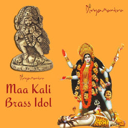 Divya Mantra Sri Hindu Goddess Mata Maha Kali Maa Idol Sculpture Statue Murti -Puja/Pooja Room, Meditation, Prayer, Office, Temple, Home Decor Gift Collection Item/Product-Money, Good Luck, Prosperity