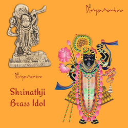 Divya Mantra Sri Hindu God Shrinathji Nathdwara Idol Sculpture Statue Murti -Puja/Pooja Room, Meditation, Prayer, Office, Temple, Home Decor Gift Collection Item/Product-Money, Good Luck, Prosperity
