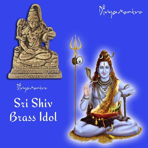 Divya Mantra Sri Hindu God Shiva Shankar Idol Sculpture Statue Murti - Puja Room, Meditation, Prayer, Office, Business, Temple, Home Decor Gift Collection Item/Product-Money, Good Luck, Prosperity - Divya Mantra