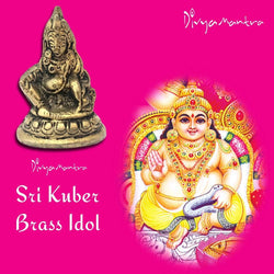 Divya Mantra Sri Hindu God Kubera Idol Sculpture Statue Murti - Puja Pooja Room, Meditation, Prayer, Office, Business, Temple, Home Decor Gift Collection Item – Money / Wealth / Good Luck / Prosperity