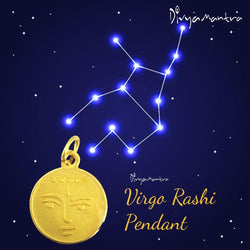 Divya Mantra Virgo Zodiac Sign Kanya Rashi & Swami Graha Budh Yantra Sri Chakra Sacred Hindu Geometry Ancient Vedic Tantra Scriptures Good Luck Metallic Pendant / Locket for Men /Women / Boys / Girls - Divya Mantra