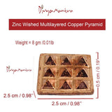 Divya Mantra 9 Wish Pyramids on Pure Copper Plate Yantra Wall/Door Sticker -Vastu Dosh Nivaran, Good Luck, Money, Vaastu Shastra Remedy for Protection from Negativity – Home, Office Decor Item/Product - Divya Mantra
