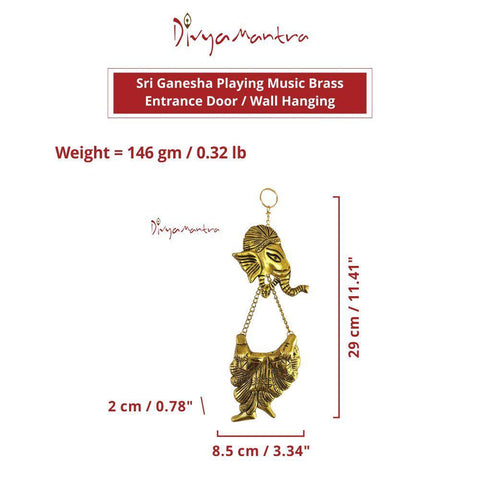 Divya Mantra Hindu God Sri Ganesha Brass Entrance Door