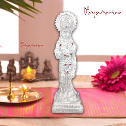 Divya Mantra Hindu Goddess Sri Sita Idol Sculpture Statue Murti -Puja Room, Decorative, Meditation, Prayer, Office, Temple, Home Decor Gift Collection Item/Product-Money, Good Luck, Prosperity-Silver - Divya Mantra