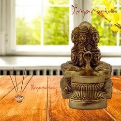 Divya Mantra 12 Jyotirlinga Lord Shiva Lingam With Nag Devta Sculpture Statue Murti Puja, Temple, Meditation, Prayer, Office, Business, Home Decor Gift Collection Item/Product -Money, Good Luck-Yellow - Divya Mantra