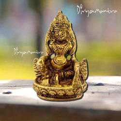 Divya Mantra Sri Hindu Religious God Kuber Idol Sculpture Statue Murti - Puja Pooja Room, Meditation, Prayer, Business, Temple, Home Decor, Collection Item – Money/Wealth/Good Luck/Prosperity-Yellow - Divya Mantra