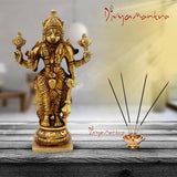 Divya Mantra Decorative Sri Vishnu God Idol Sculpture Statue Murti - Puja Room,Temple, Meditation, Prayer, Office, Business, Home Decor Gift Collection Item/Product-Money, Good Luck, Prosperity-Yellow