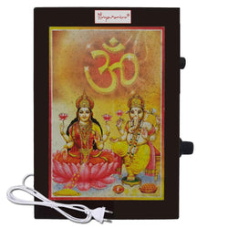 Divya Mantra Metallic Sri Ganesha & Laxmi ji Aarti Hindu Religious Chanting Repeater Akhand Jaap Machine Device Electric Box For Mandir Pooja (Puja) Room, Good Luck Prosperity Gift Item- Multicolor - Divya Mantra
