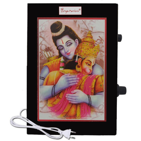 Divya Mantra Metallic Sri Hanuman Chalisa & Aarti Hindu Religious Chanting Repeater Akhand Jaap Machine Device Electric Box For Mandir Pooja (Puja) Room, Good Luck Prosperity Gift Item - Multicolor - Divya Mantra