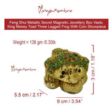 Divya Mantra Feng Shui Vastu King Money Toad Three Legged Frog With Coin For Wealth Luck Happiness Success & Financial Gains, Good Charm, Office, Home Decor Gift Collection Item / Product - Multicolor - Divya Mantra
