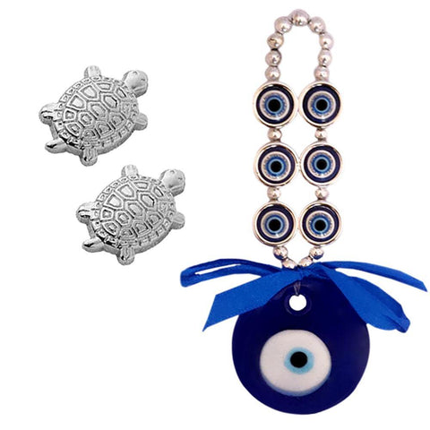 Amulet Ornament wall hanging  made in Turkey Evil Eye Charm  Glass 3 in