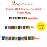 Divya Mantra Combo Of Tibetian Buddhist Prayer Flags For Home, Car And For Motorbike - Divya Mantra