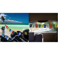 Divya Mantra Combo Of Tibetian Buddhist Prayer Flags For Car and Motorbike - Divya Mantra