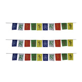 Divya Mantra Tibetan Buddhist Prayer Flags Set for Car - Divya Mantra