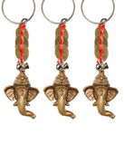 Divya Mantra Combo of Three Ganesha Key Chains with Feng Shui Coins - Divya Mantra
