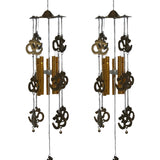 Divya Mantra Combo of Two Feng Shui Om Wind Chimes - Divya Mantra