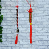Divya Mantra Combo of Feng Shui 6 Coins Hanging and 12 Coins Bell Hanging For Weath And Fortune