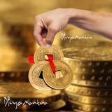 Divya Mantra Set of Feng Shui 12 Coins Bell Hanging With 3 Chinese Coins - Divya Mantra