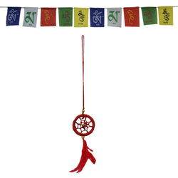 Divya Mantra Combo Of Tibetan Prayer Flag and Dream Catcher For Car - Divya Mantra