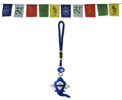Divya Mantra Combo Of Prayer Flag For Car and Ganesha Evil Eye Car / Wall Hanging - Divya Mantra