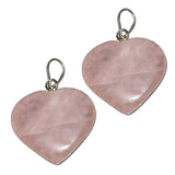 Divya Mantra Feng Shui Combo Of Rose Quartz Heart Pendants - Divya Mantra