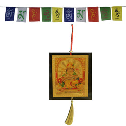 Divya Mantra Combo Of Shiva Car Decoration Rear View Mirror Hanging Accessories And Prayer Flag For Car - Divya Mantra