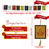 Divya Mantra Combo Of Shiva Car Decoration Rear View Mirror Hanging Accessories And Prayer Flag For Car