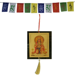 Divya Mantra Combo Of Hanuman Car Decoration Rear View Mirror Hanging Accessories And Prayer Flag For Car - Divya Mantra