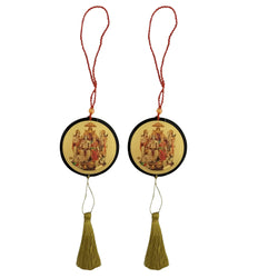 Divya Mantra Sri Ram Darbar Talisman Gift Pendant Amulet for Car Rear View Mirror Decor Ornament Accessories/Good Luck Charm Protection Interior Wall Hanging Showpiece - Combo Set of 2