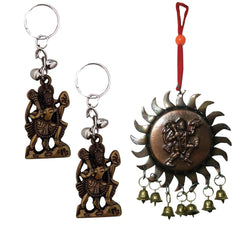 Aaradhi Divya Mantra Sri Vastu Hanuman Talisman Gift Pendant Amulet for Car Rear View Mirror Decor Ornament Accessories - Divya Mantra