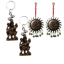 Divya Mantra Combo of Two Vastu Hanuman Car/Wall Hanging with Bells - Divya Mantra