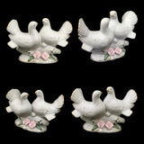 Divya Mantra Feng Shui Vastu Love Birds White Dove Pair Ceramic Decor Gift Figurine - Divya Mantra
