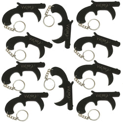 Door Opener Key Tool, Touch Free Touchless Hand Keychain For Safe Surface Contact, Contactless Button Pusher Tool for Clean Hygiene, Smart Utility for Elevator Button Touching Avoidance Black- 10 Set