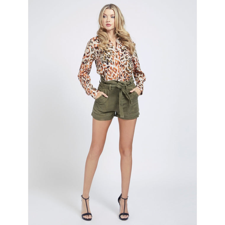 Short Janna à taille haute  W1GD0D By GUESS